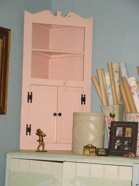 cabinet for kitchen sale drawers cabinets vintage corner display shelves shabby chic prairie