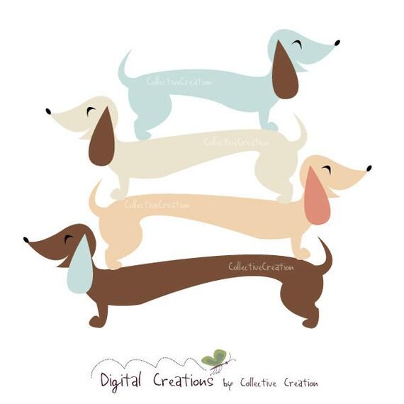 sausage dog dachshund digital