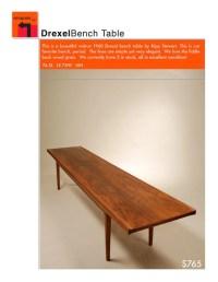 Mid Century Walnut Bench Coffee Table by Kipp Stewart by ...