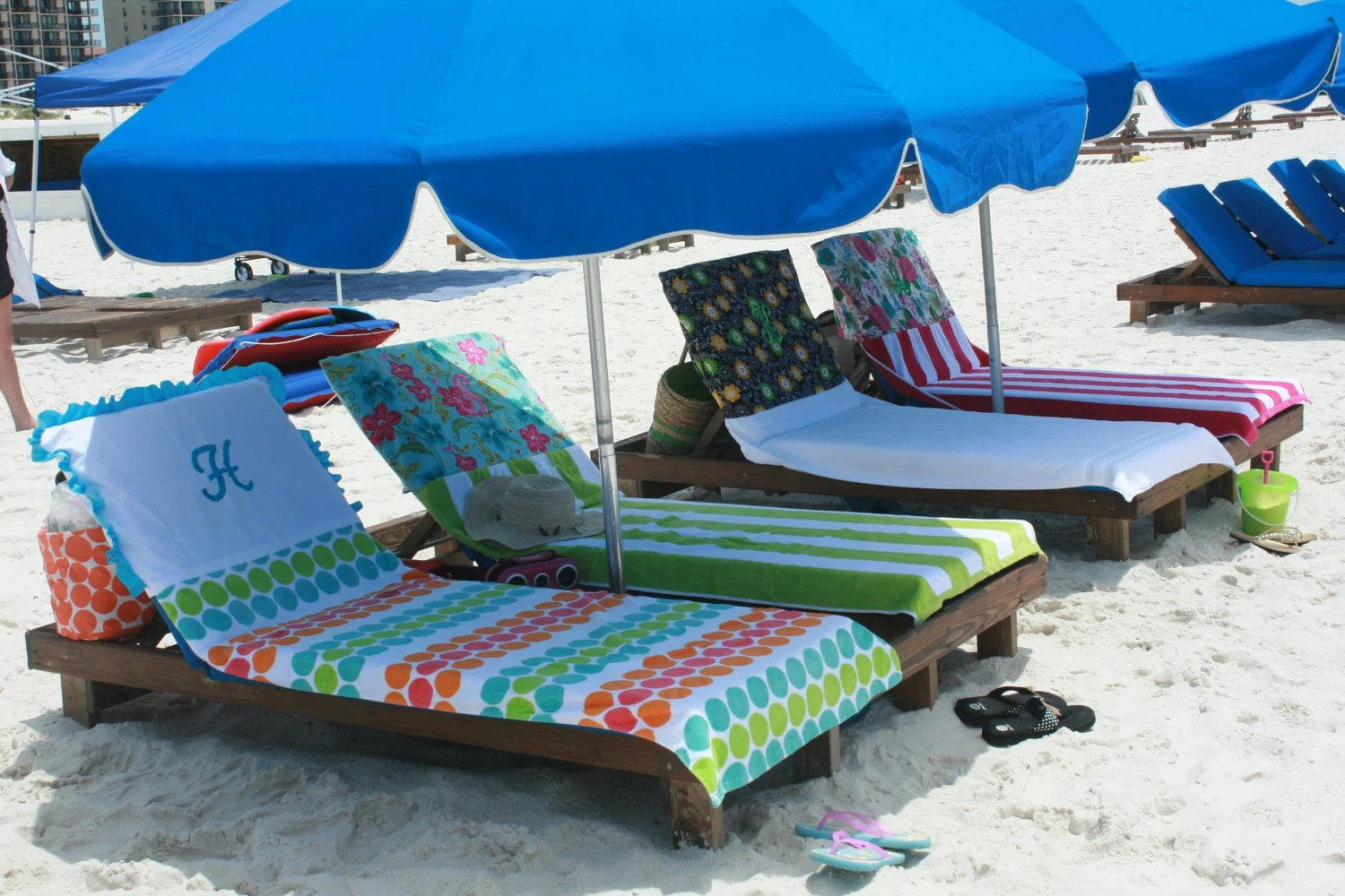 custom beach chairs wheelchair van for sale towel pool personalized a dress up you