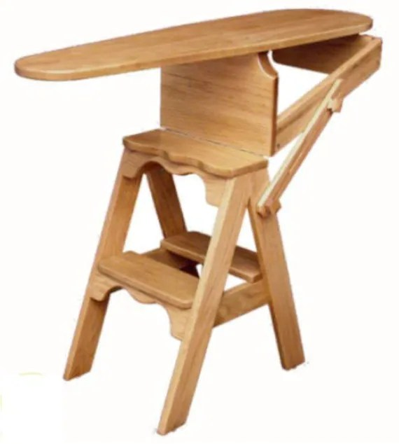 chair step stool ironing board swivel reclining with ottoman items similar to the jefferson bachelor / from reclaimed ...