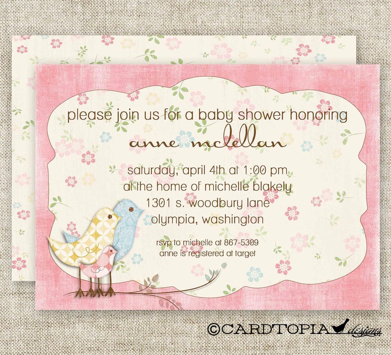 Diy Shabby Chic Wedding Invitations