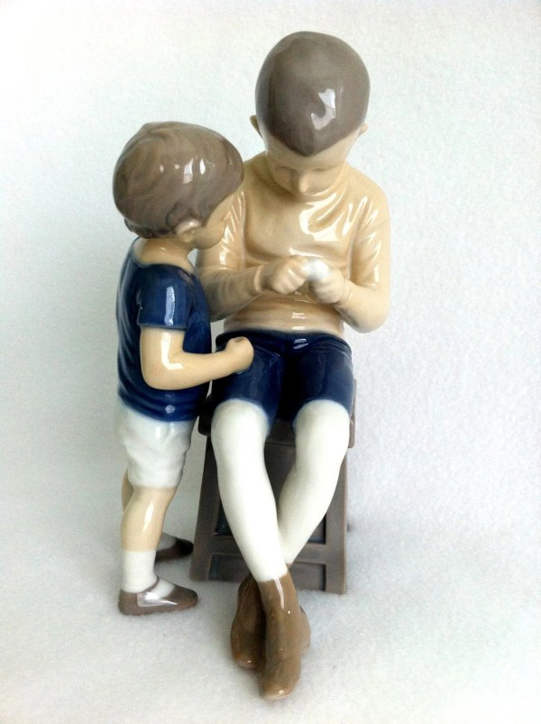 Antique Bing Grondahl Figurine & Vintage Tom And Willy
