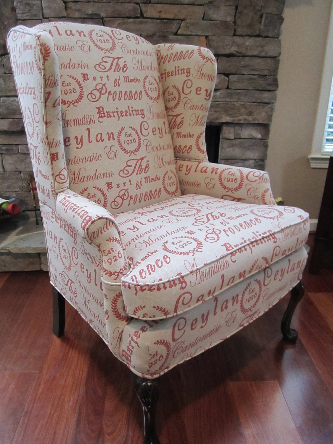 French Script Chair Items Similar To Accent Chair Script On Etsy