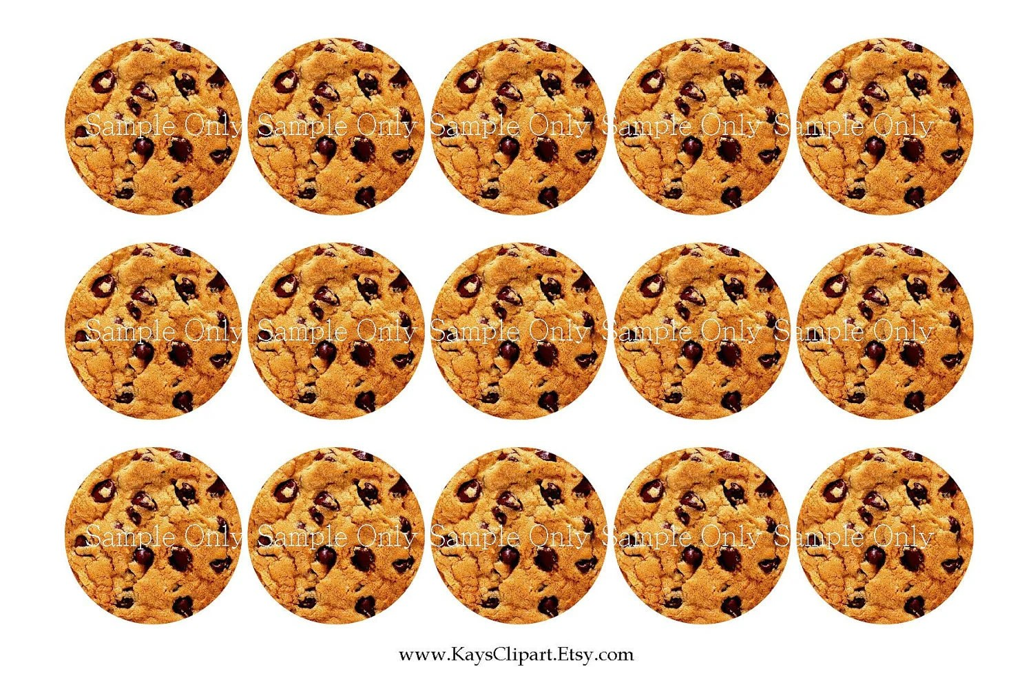 Sale 1c102 Chocolate Chip Cookies 1 Inch Circle By Ikjewelryparty
