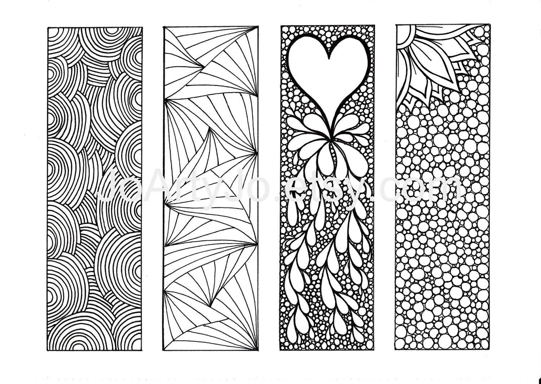 Zentangle Inspired Art Bookmarks Diy Printable By Joartyjo