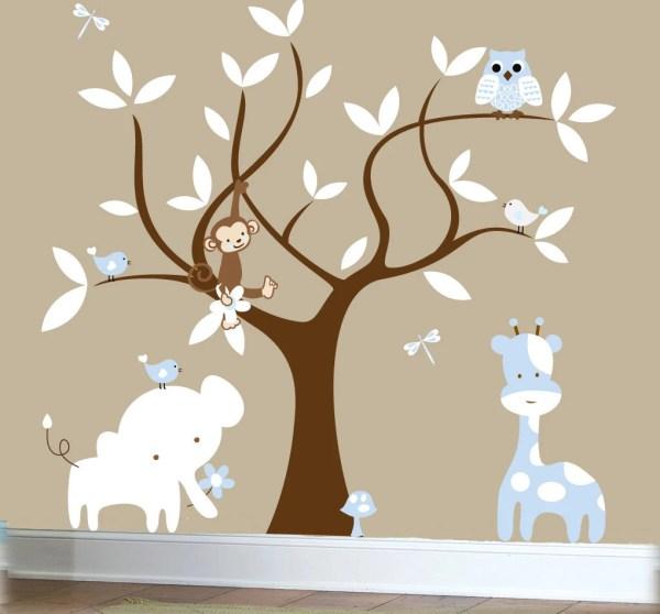 Jungle Tree Wall Decal Nursery