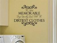 Laundry Room Vinyl Wall Decal Memorable Days Wall by wallartsy