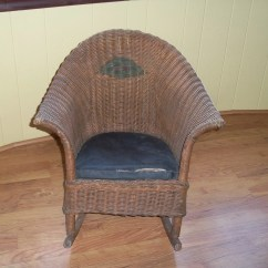 Wicker Rocking Chair Executive Leather Office Chairs Uk Victorian Heywood Wakefield Child Rocker