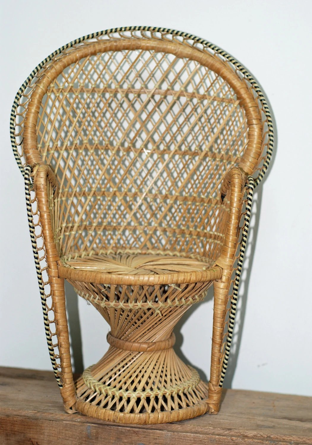 chair stand hsn code folds into bed vintage buri wicker 16 peacock by thevintageroad2retro