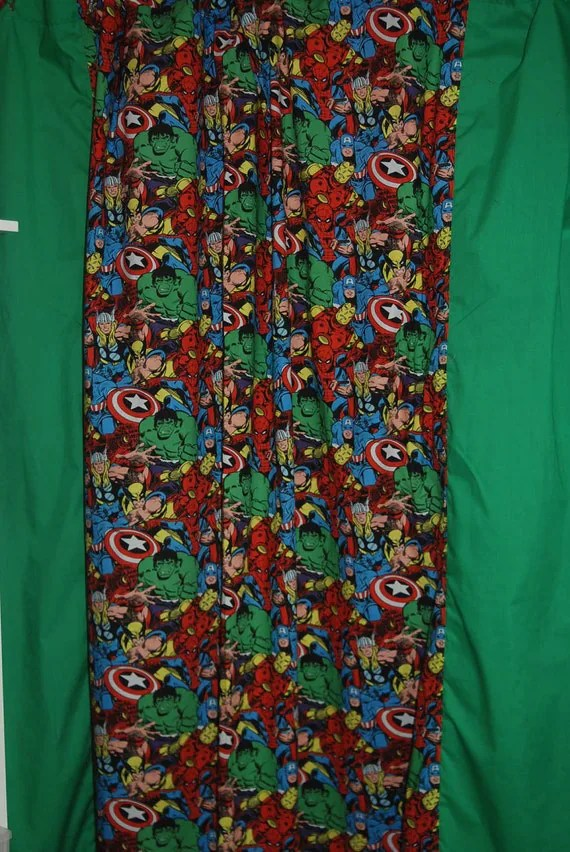 Items Similar To Marvel Avengers Comic Book Superheroes Shower Curtain On Etsy