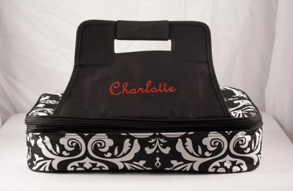 Personalized Casserole Carrier Double Insulated Damask
