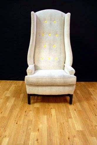 Items similar to Hotel Lobby High Back Wing Chair on Etsy