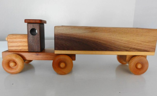 Wooden Toy Truck W Colored Blocks By Kazwoodcraft On Etsy