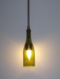 Repurposed Wine bottle hanging lamp by DogwoodCountryDecor ...