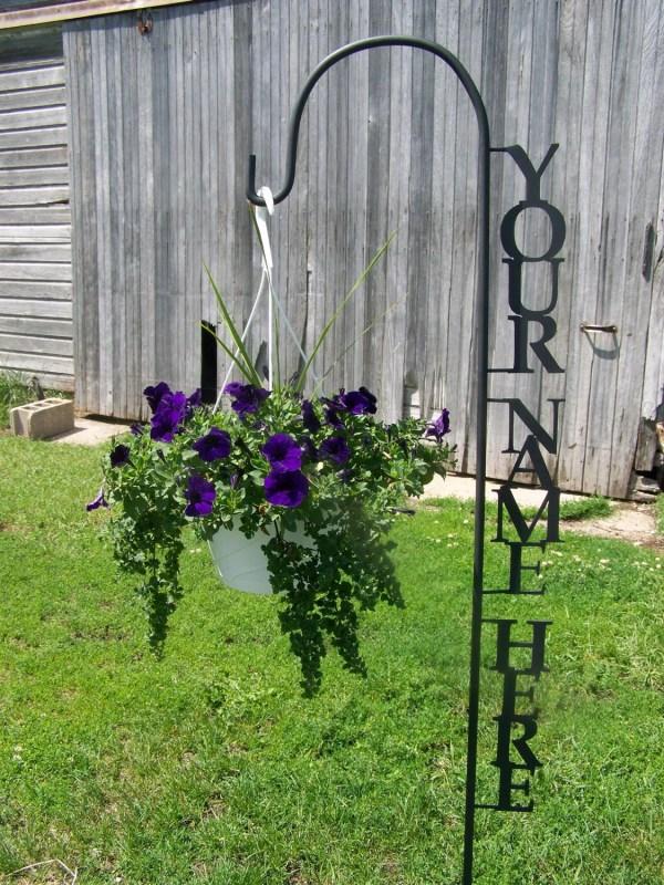 Shepherd Hook Personalized With Yard Garden Decor