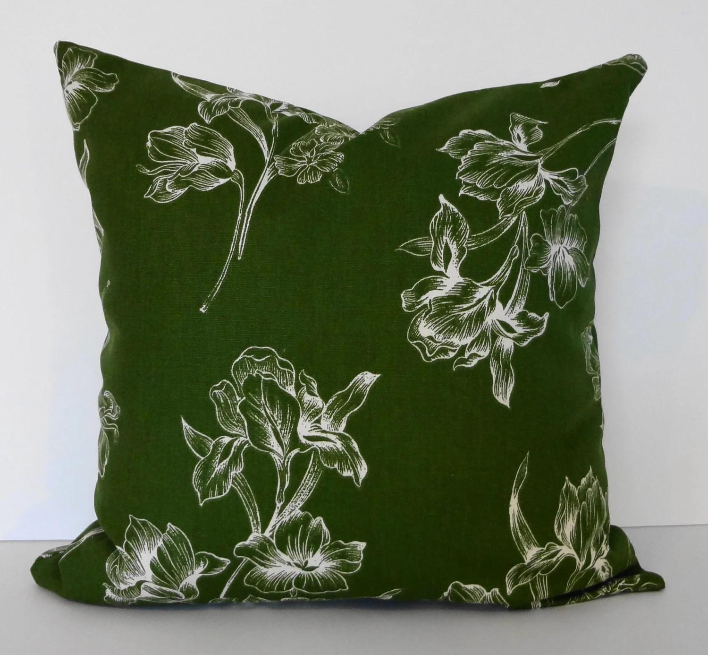 Emerald Green Decorative Throw Pillow Cover 18 x 18 Cushion
