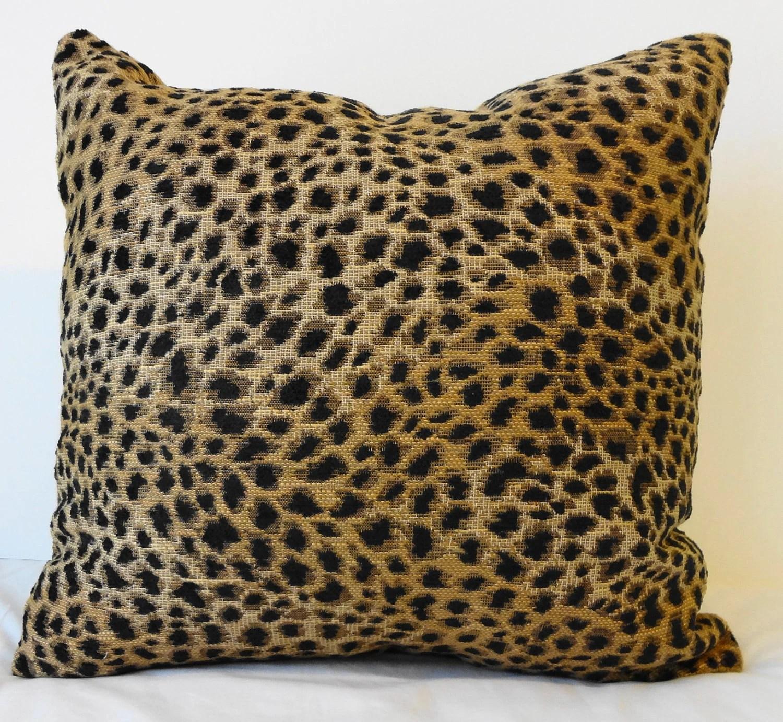 Leopard Print Decorative Pillow Cover Cheetah Animal Print