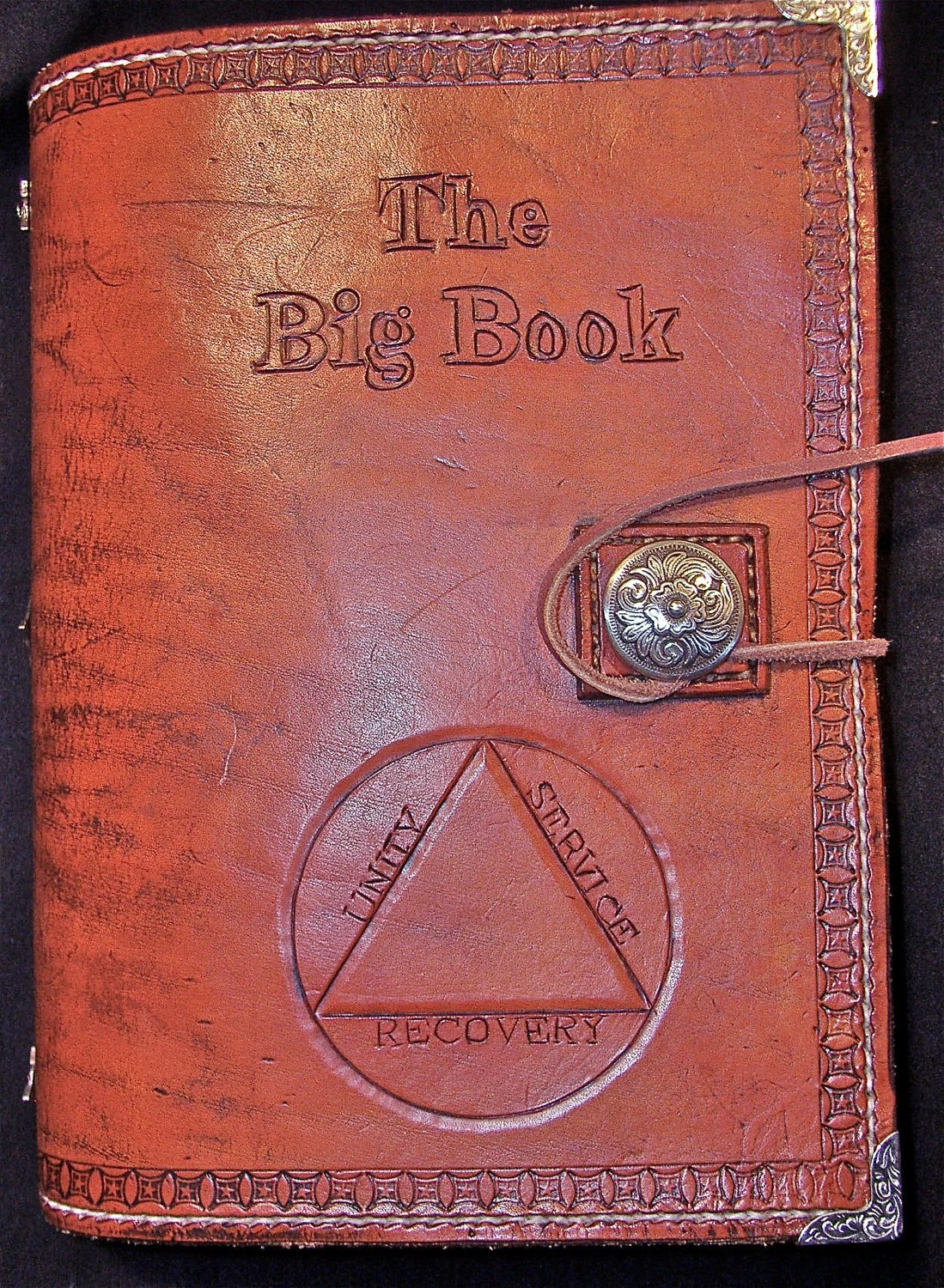 Alcoholics Anonymous Leather Big Book Big Print Edition Cover