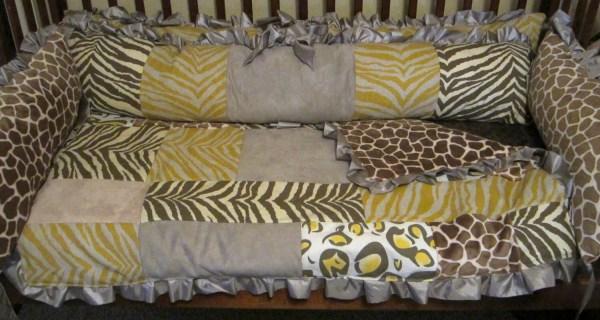 Leopard Print Baby Crib Bedding
