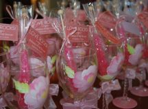 Wedding Wine Glass Bridal Party Pretty in Pink by ...