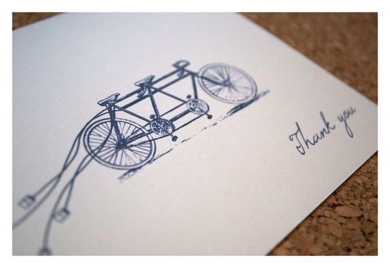 Thank You Note on Etsy by Sparetire Design