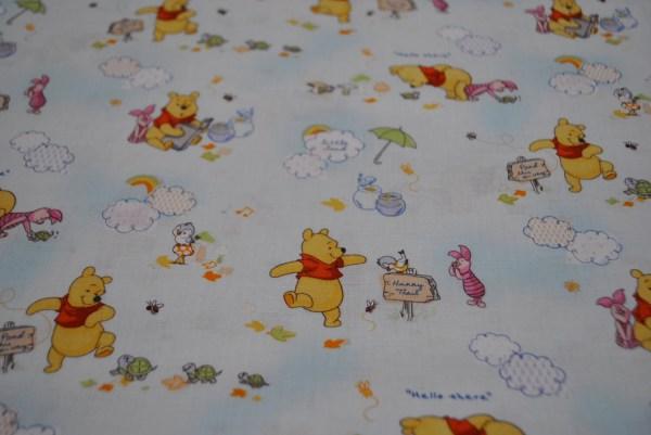 Winnie Pooh Clouds Fabric