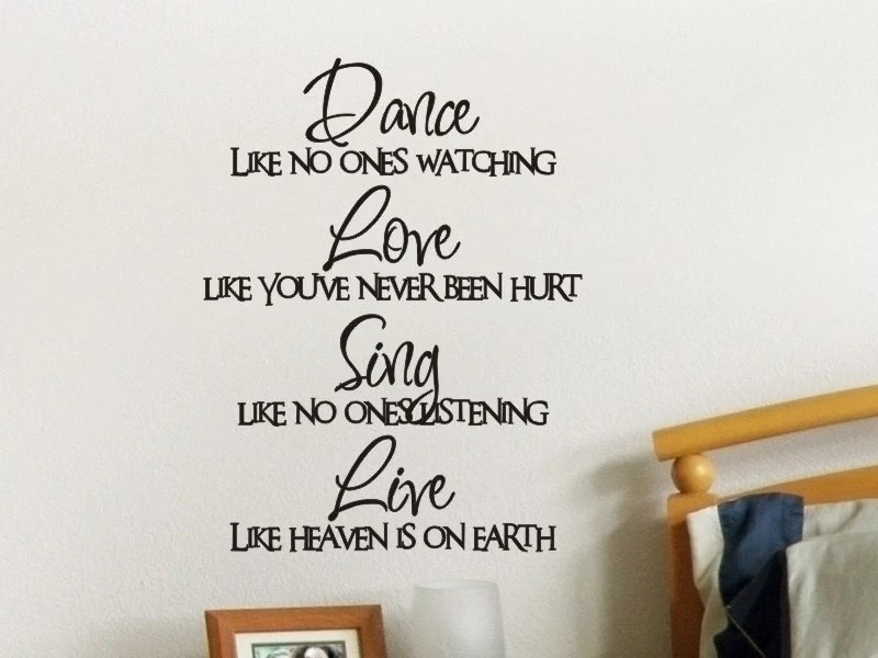 Wall Quote Decal Dance Like No One Is Watching by vgwalldecals