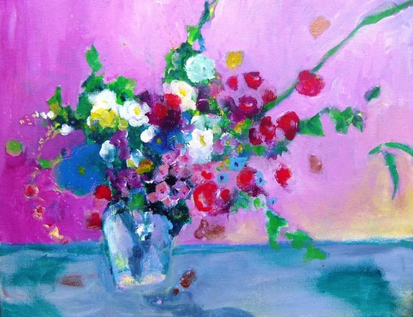 Abstract Floral Original Painting Canvas Modern Art