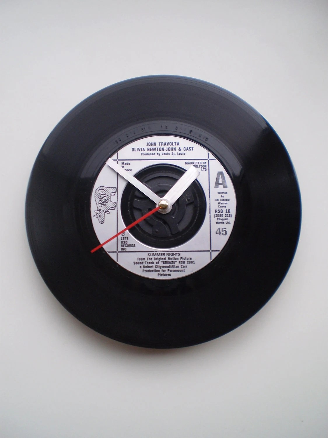 Record Clock - Grease (Summer Nights) - AquillaDesign