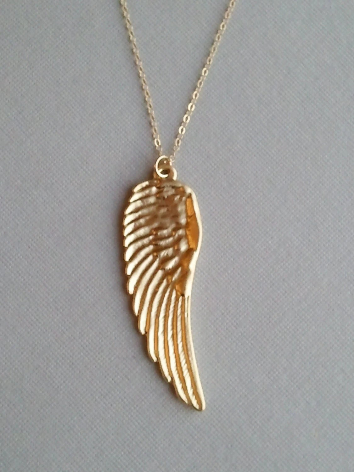 Mothers Day Sale Gold Angels Wing Necklace Also