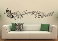 Music Butterfly Wall Decals Wall Stickers Vinyl Wall Decor
