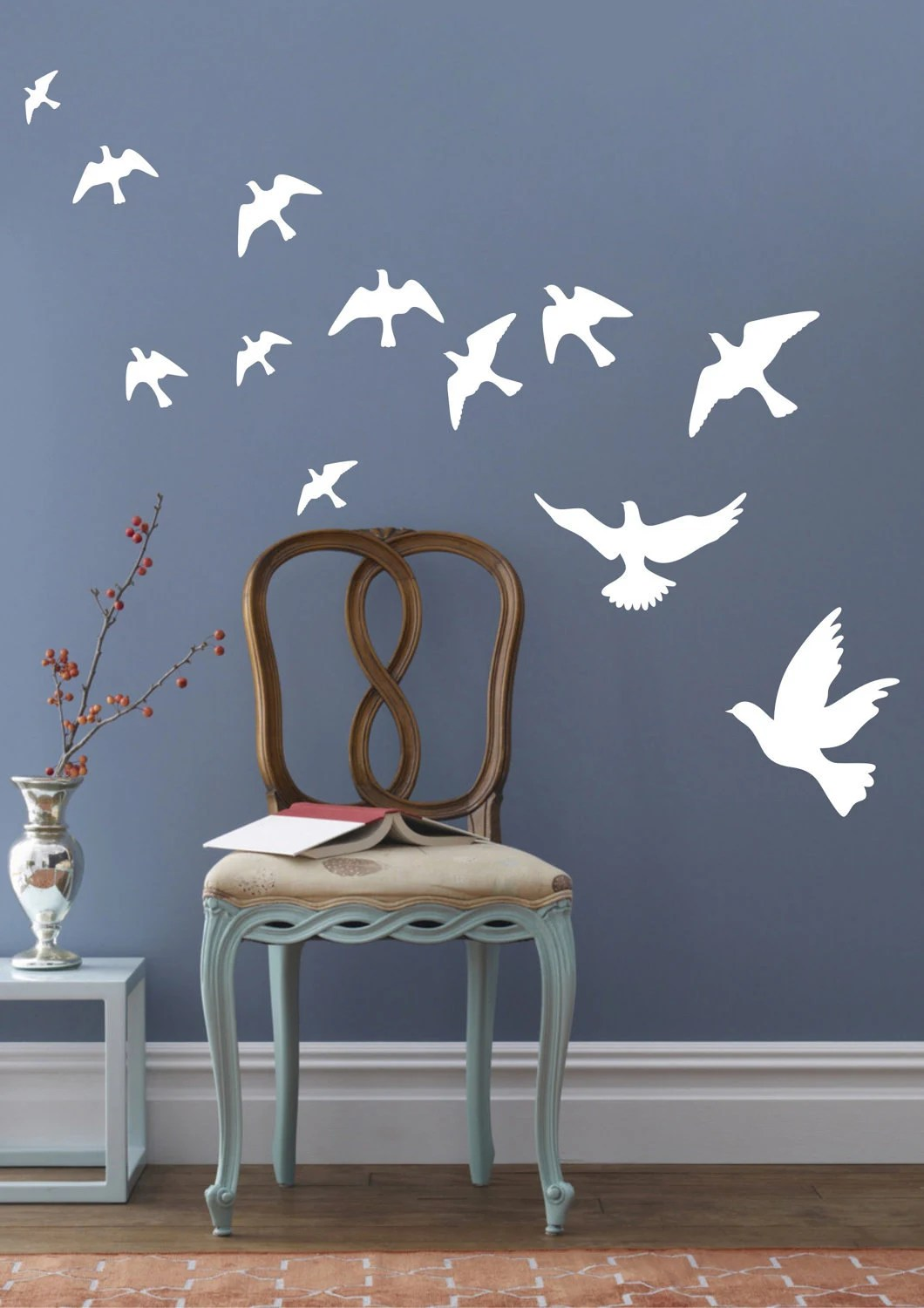 Peace Pigeons Birds Wall Decals Wall Stickers Vinyl Wall Decor