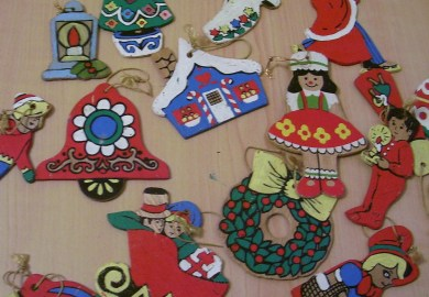 Wooden Christmas Ornaments To Paint By Number