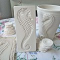 Clay stamp seahorse pottery press mold relief mold by claystamps