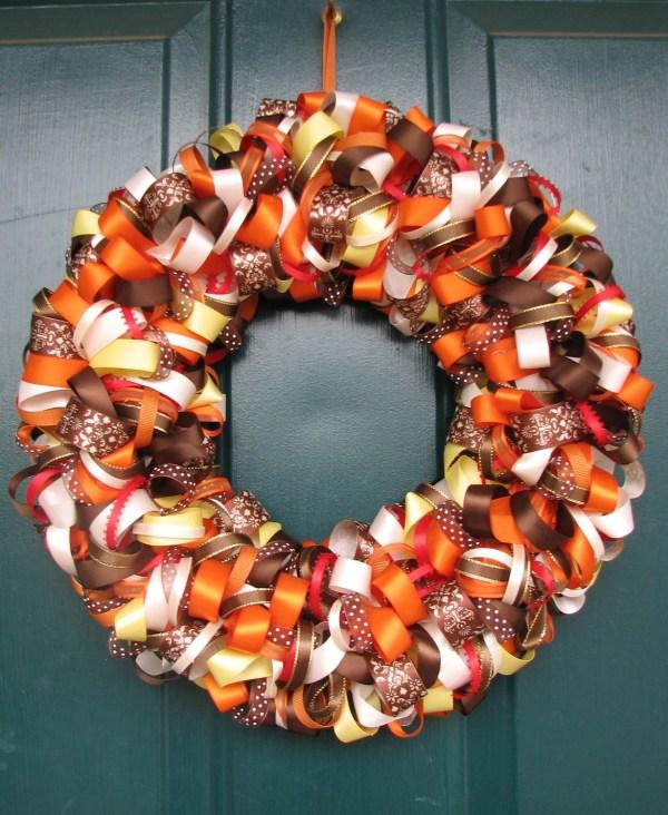 Beautiful Fall Ribbon Wreath
