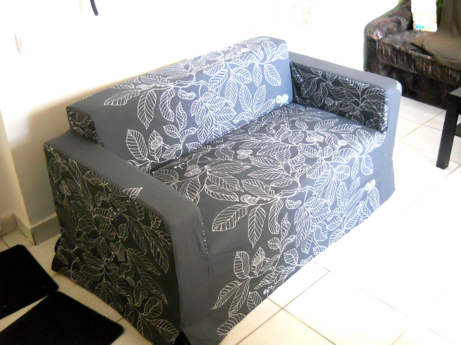 custom chair covers ikea singing elmo potty made cover for klobo sofa from nice leaf