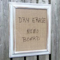 RESERVED Framed Dry Erase Board Message Burlap Distressed