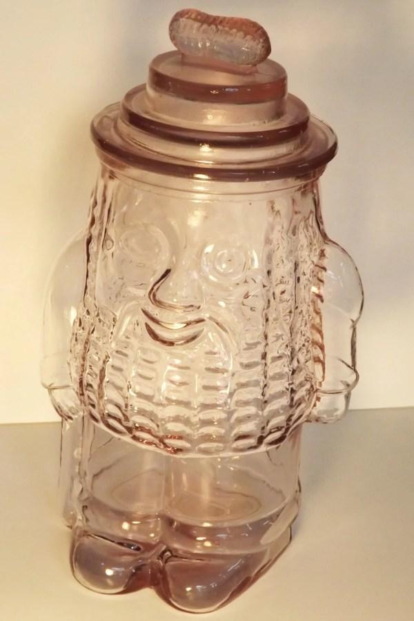 Peanut Pink Depression Cookie Jar Vintage