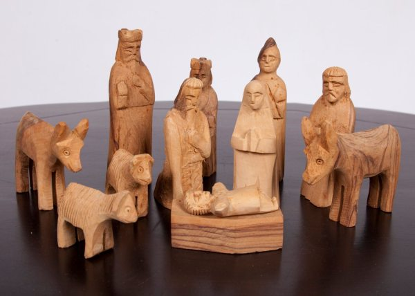 Reserved Sageabf Vintage Nativity Set Hand Carved 12