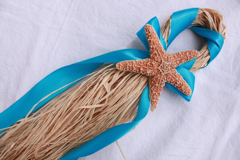 starfish wedding chair decorations ikea wing chairs turquoise beach hanger