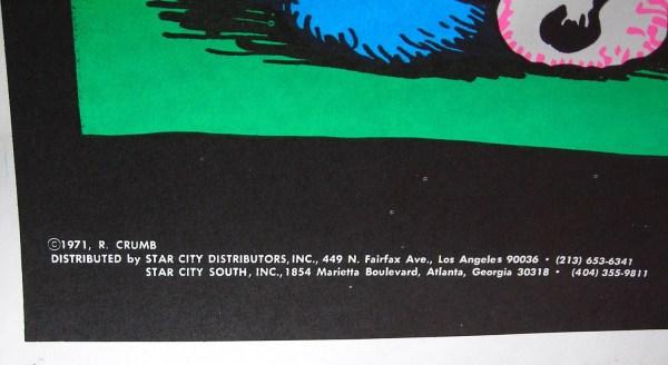 Vtg. 1971 Stoned Agin Black Light Poster Pjsvintagevariety