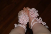 Pattern Crochet Barefoot Baby Sandals Stillwatertreasures