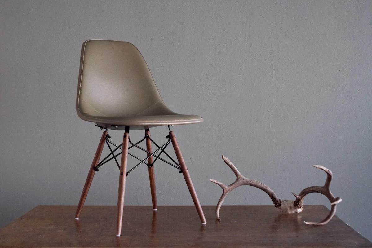 herman miller chairs vintage camping with canopy sage green eames for side by castandcrew