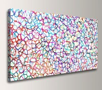Abstract Panoramic Wall Decor Colorful Modern Canvas Print