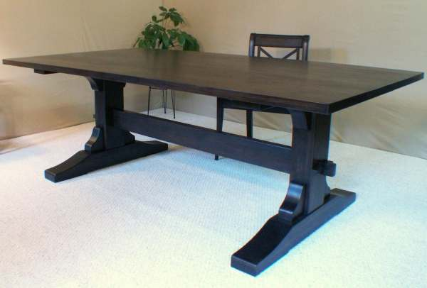 Wood Dining Table Trestle Black Walnut In Vermont