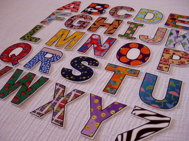 Abc Alphabet Amp Number Fridge Magnets Cut Outs Felt