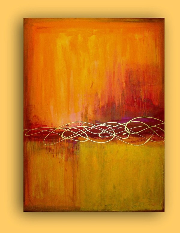 Orange Abstract Art Paintings