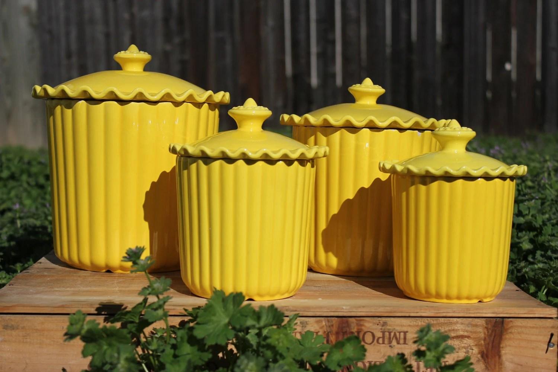 Canister Kitchen Black Ceramic Sets
