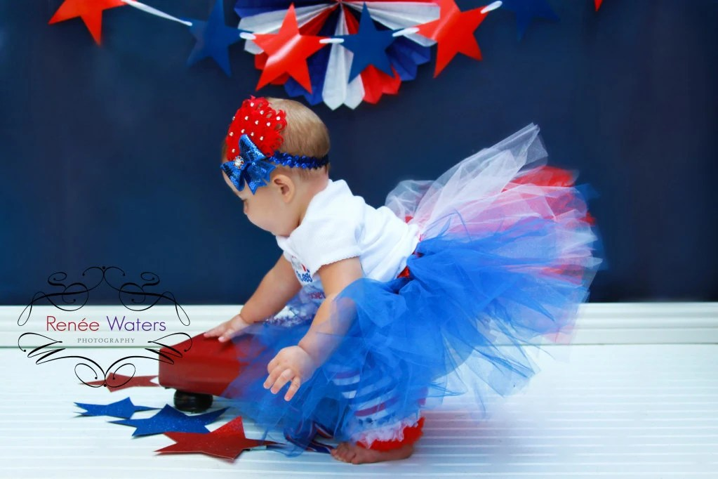 4th of July Tutu Outfit (Red, White and Blue) - misszulala